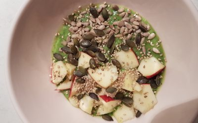 Smoothie bowl appel en spinazie