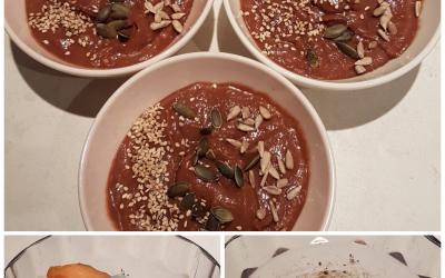 Chocolade mousse ontbijt, toetje of tussendoortje (glutenvrij)