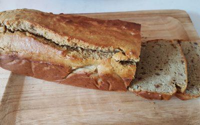 """Boekweit-amandel""""brood"""" (glutenvrij)"""
